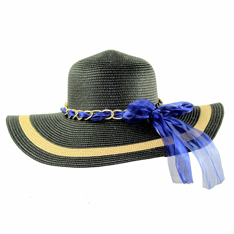 Chapéu Feminino Praia Floppy Aba Grande Com Fita Decorativa - Compre ... 1c4cfd723d1
