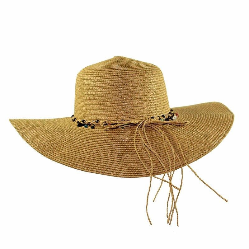 82bdf531f9ec0 Chapéu Feminino Praia Floppy Com Fita Decorativa - Compre Agora - Feira da  Madrugada SP