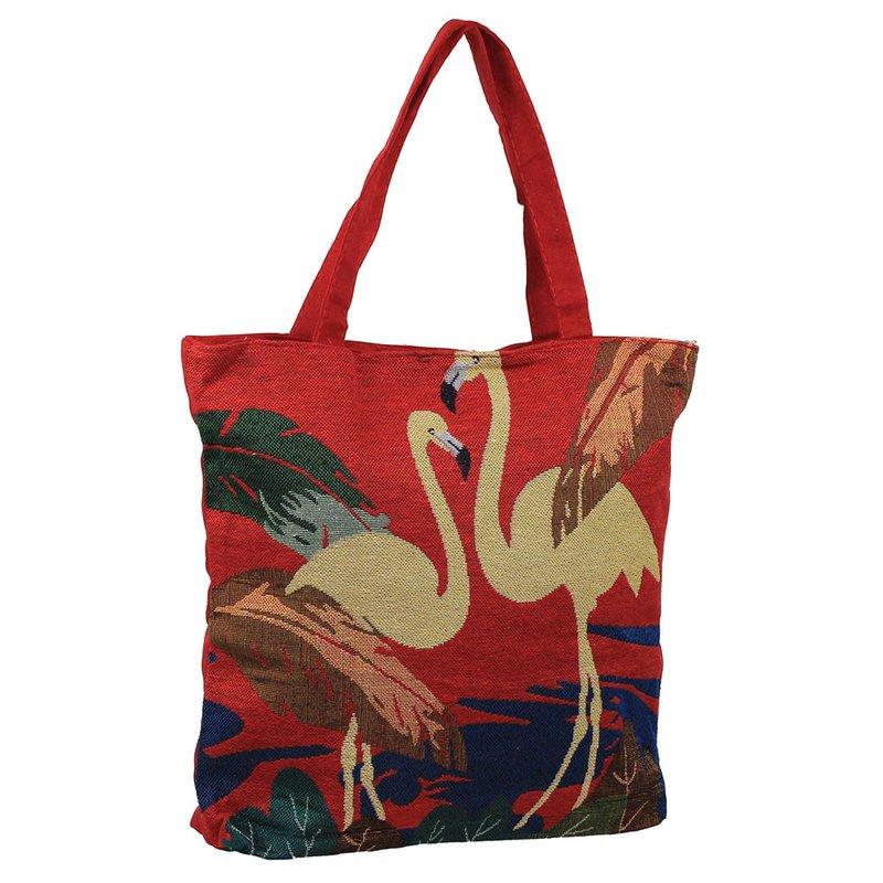 0ce1ddd1c12b4 Bolsa Sacola Feminina Estampa De Flamingo Ou Unicónio - Compre Agora -  Feira da Madrugada SP