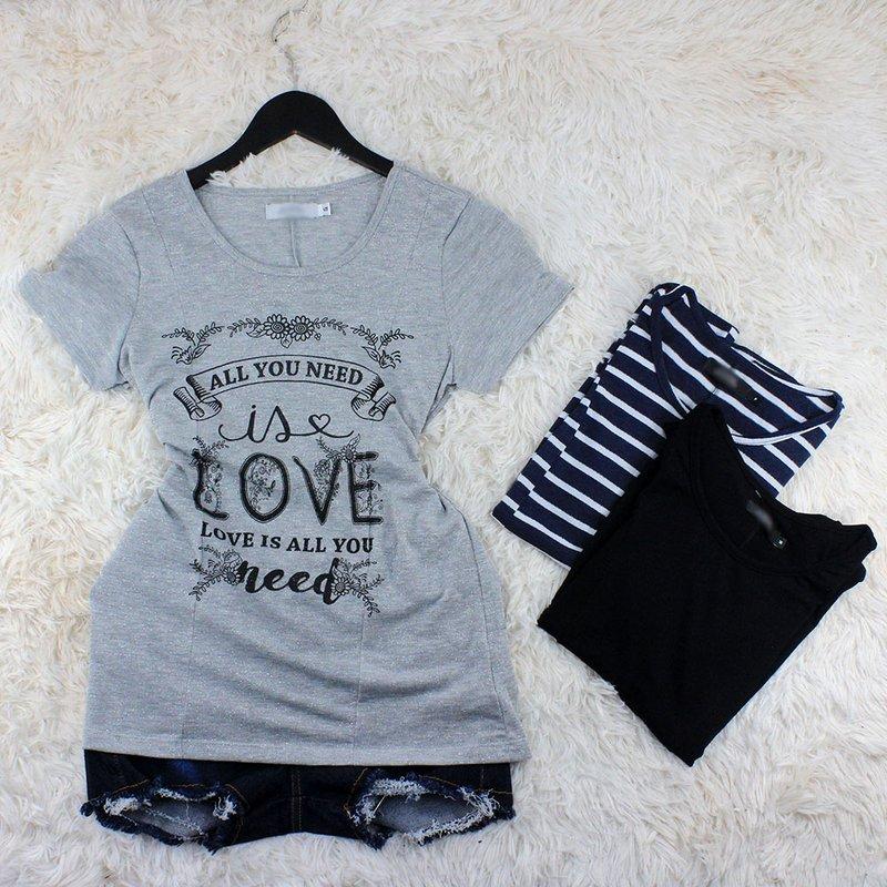 b6a28c49be Kit 3 Blusas Camisetas Estampas Diversas Feminina - Compre Agora - Feira da  Madrugada SP