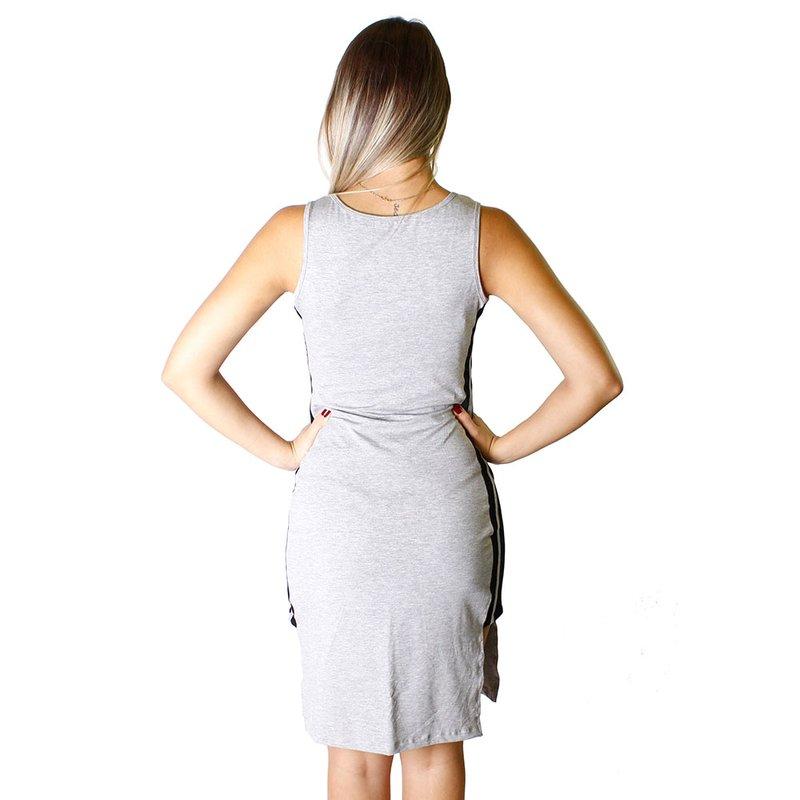 3c67891f2 Vestido Midi Recortes Laterais Listrado - Compre Agora - Feira da ...
