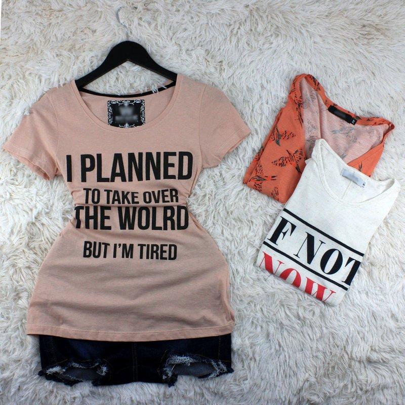 2df7859cf Kit 3 Camisetas Estampadas Feminina - Compre Agora - Feira da Madrugada SP