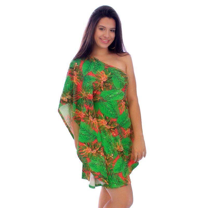 c230994bb Vestido Floral Feminino Um Ombro Só - Compre Agora - Feira da Madrugada SP