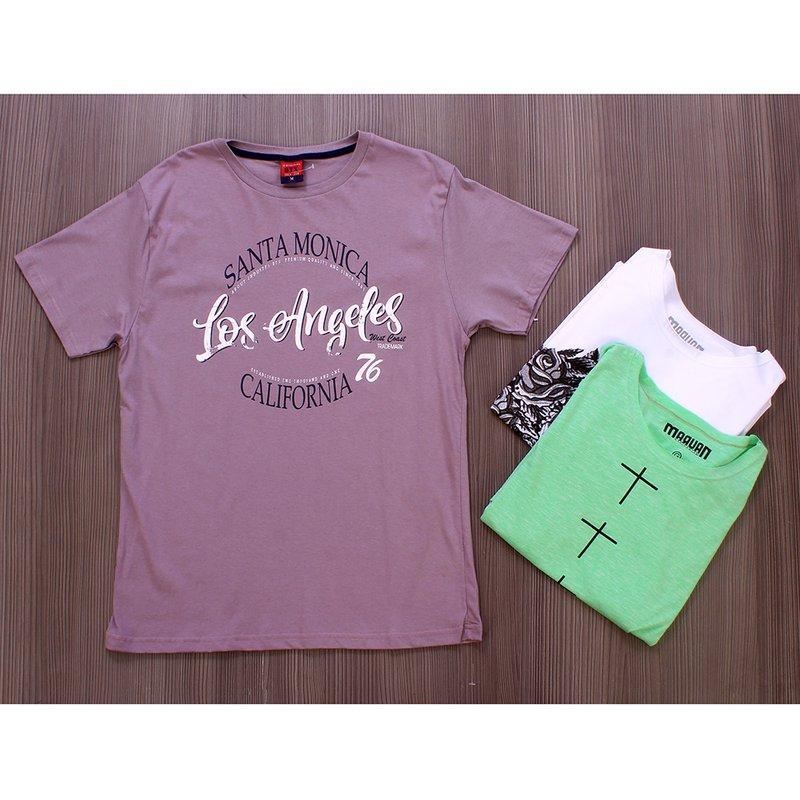 4bf5ec9d5c60d Kit 3 Camisetas T-Shirt Com Estampas Diversas Masculina - Compre Agora -  Feira da Madrugada SP