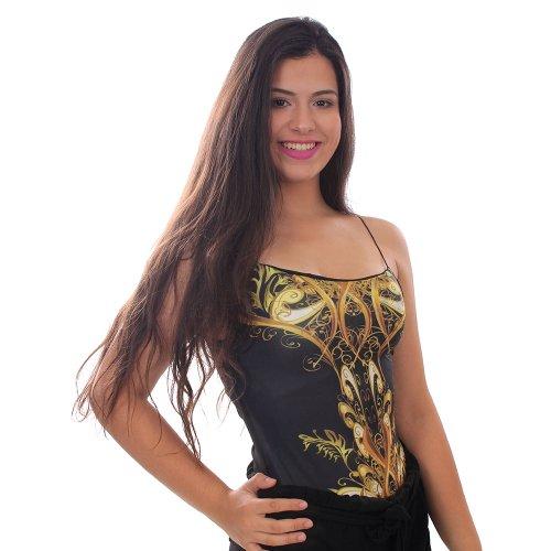 a88f6449d69 Body Tamanho Único Regata Estampado Com Bojo Feminino - Compre Agora ...