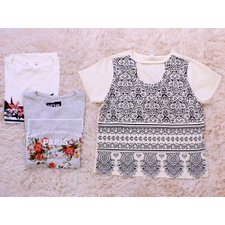 Kit 3 Camisetas Feminina Estampas Frontais Diversas