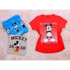 Kit 3 Camisetas T-shirt Do Mickey