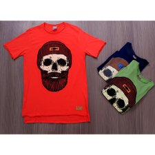 Kit 3 Camisetas Masculinas T-Shirt Estampas Frontais Variadas