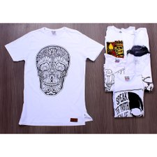 Kit 6 Camisetas Masculinas T-Shirt Estampas Frontais Variadas