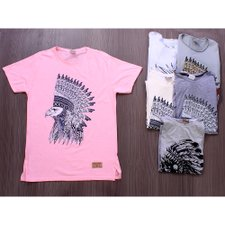 Kit 6 Camisetas T-Shirt Masculinas Estampas Frontais Variadas