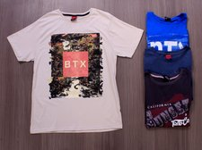 Kit 4 Camisetas Masculinas Estampas Frontais Variadas