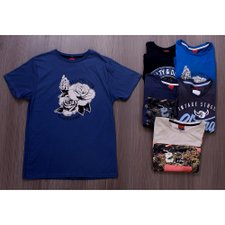 Kit 6 Camisetas Estampas Frontais Variadas Masculinas