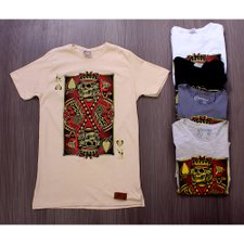 Kit Masculino Com 5 Camisetas T-Shirt Estampas Frontais