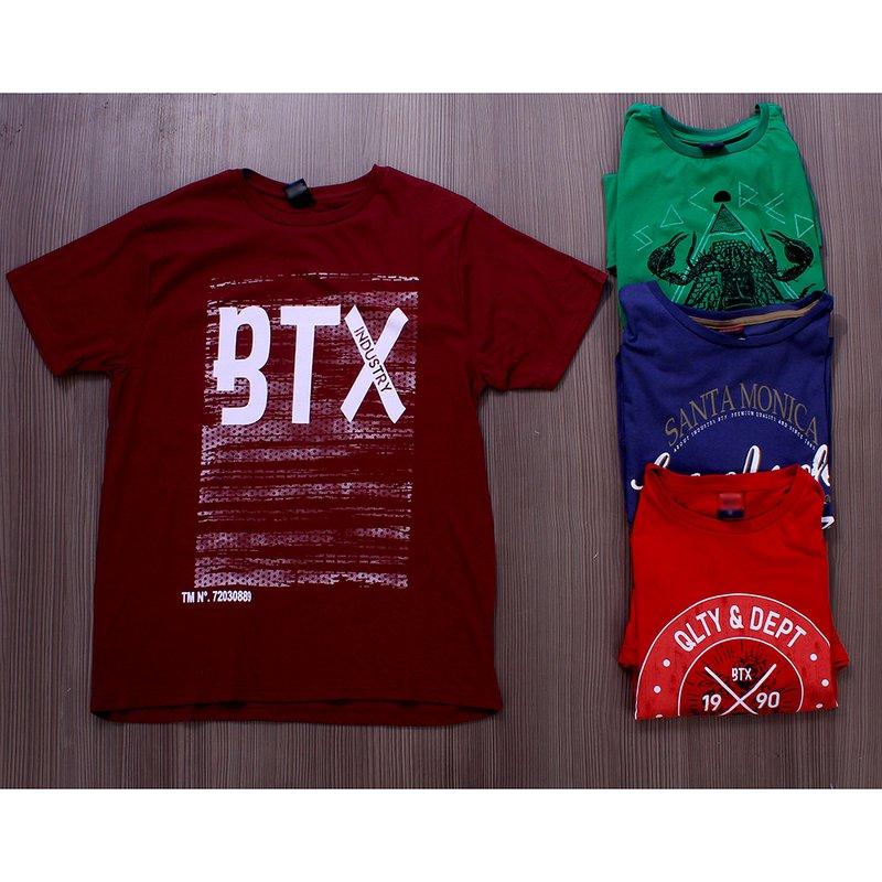 98be31c186 Kit Masculino 4 Camisetas Estampas Diversas - Compre Agora - Feira da  Madrugada SP