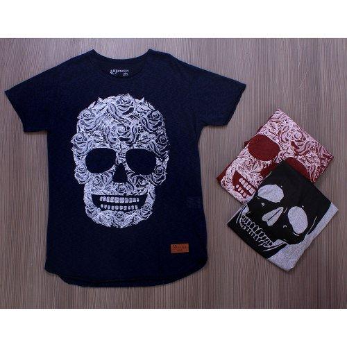 Kit Masculino 3 Camisetas T-Shirt Estampas De Caveira - Compre Agora ... d64985a8e1218