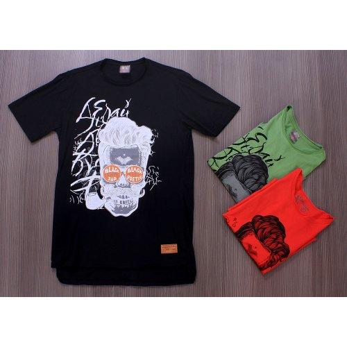 d27cbaa5bed7 Kit 3 T-Shirt Masculina Com Estampas Variadas De Caveira - Compre ...