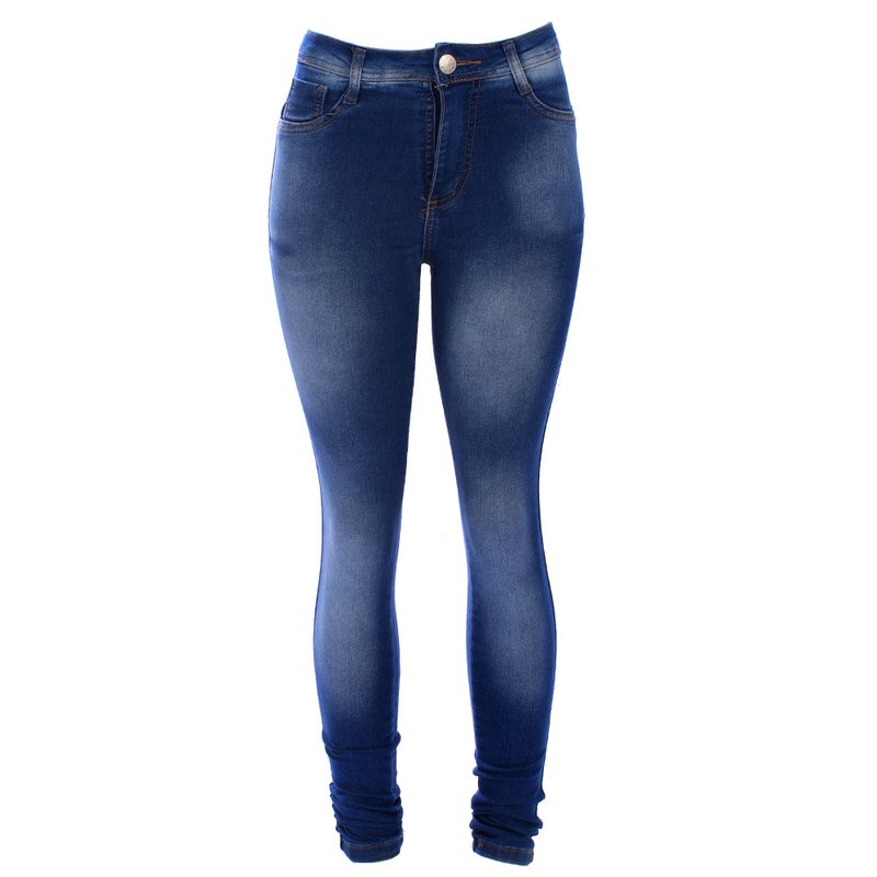 0aecf33c8a Calça Jeans Feminina Skinny Manchada - Compre Agora - Feira da Madrugada SP