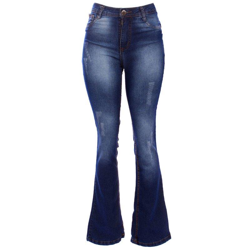 cccfff9f98 Calça Jeans Flare Destoyed Feminina - Compre Agora - Feira da Madrugada SP