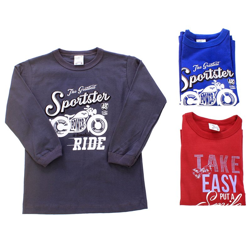 71fa7d1e5b Kit 3 Camisetas Manga Longa Masculina Estampada Infantil - Compre ...