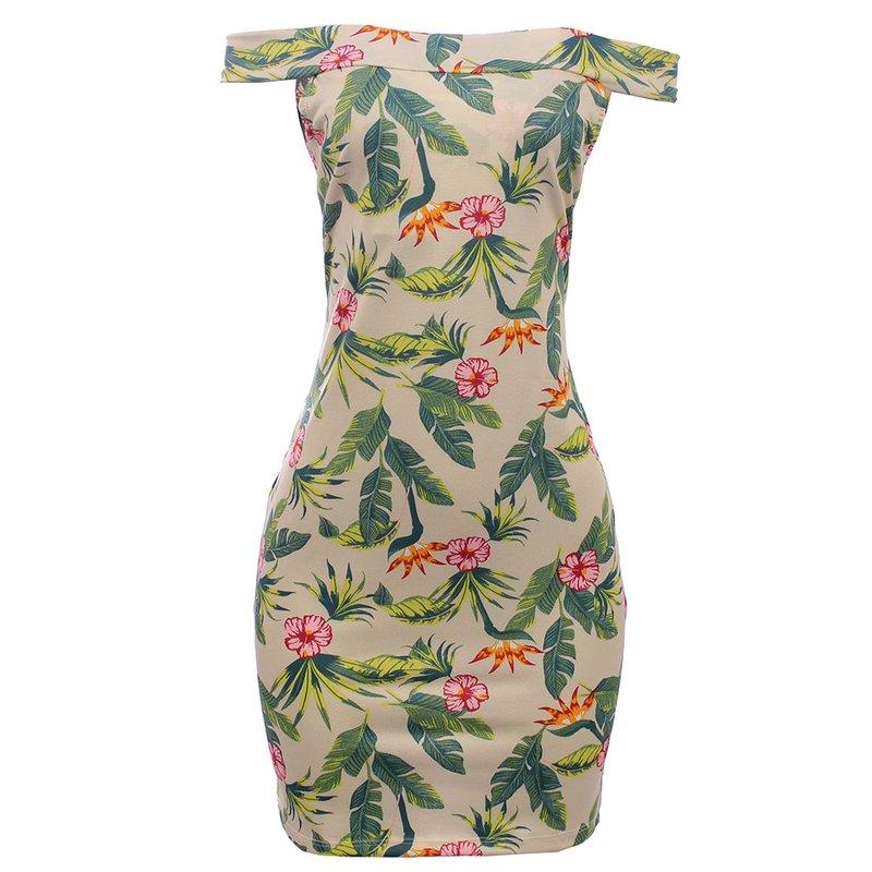 d77736fb9 Vestido Tubinho Com Estampa Tropical - Compre Agora - Feira da ...