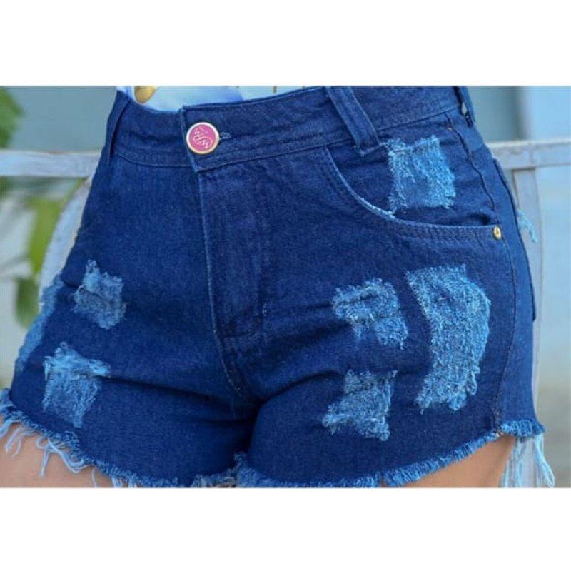 Shorts Jeans Destroyed Hot Pants - Compre Agora - Feira da Madrugada SP 0bb8b484e2b