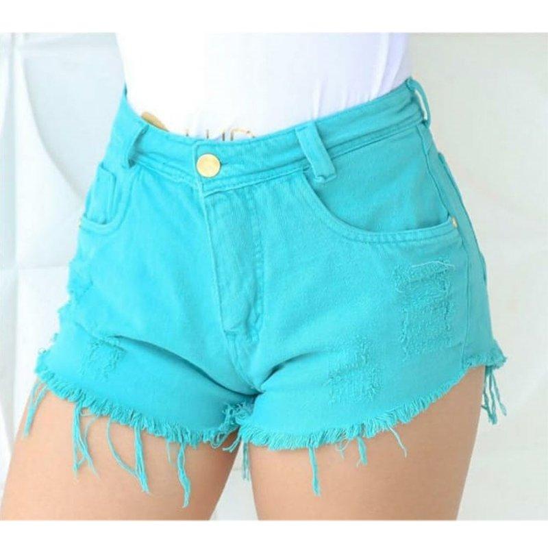 644f6f413 Short Jeans Tiiffany Com Barra Desfiada - Compre Agora - Feira da Madrugada  SP