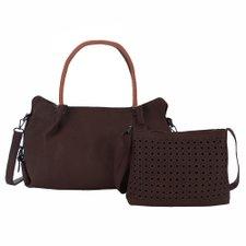 a105d1fc4 Kit 2 Bolsas Feminina Baguete + Transversal Com Vazados - Compre Agora -  Feira da Madrugada SP