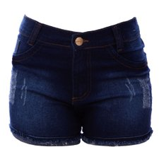 Short Jeans Hot Pants Feminino Barra Dobrada