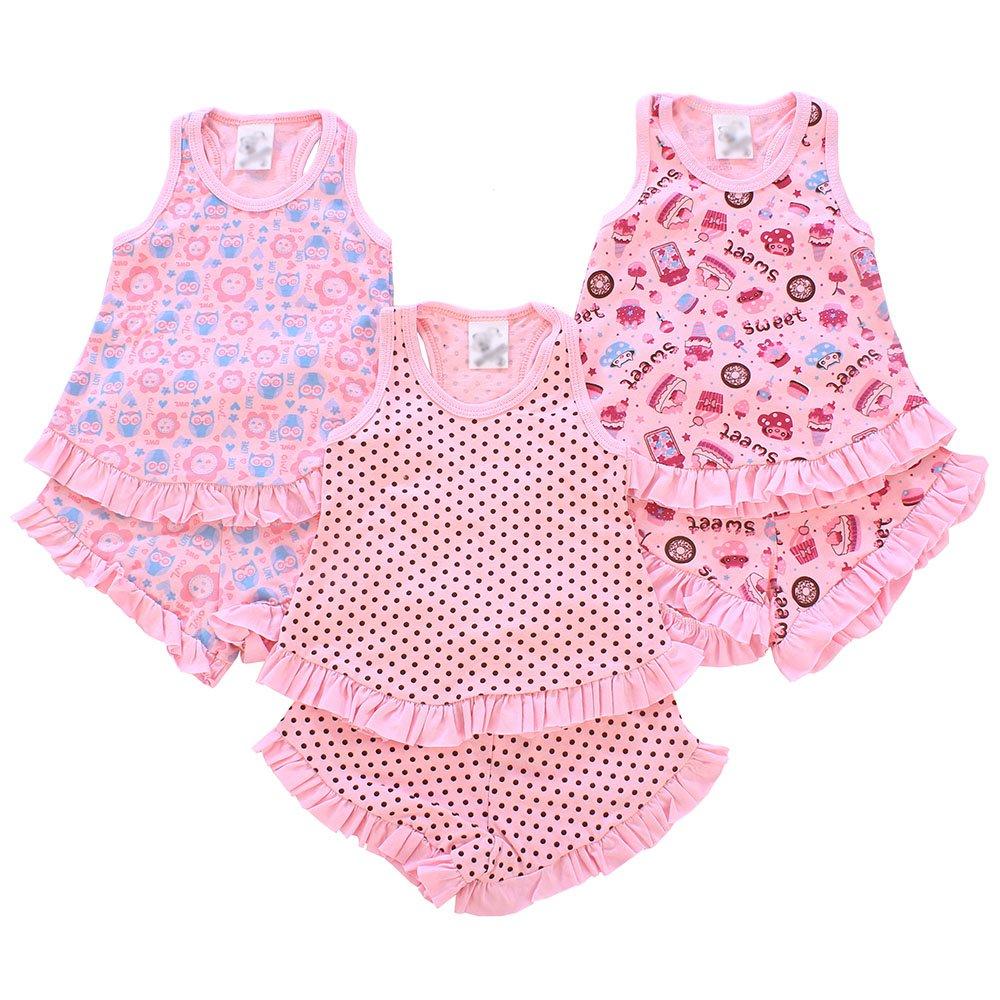 352798c94 Kit 3 Pijamas Masculino Para Bebês Estampas Variadas - Compre Agora - Feira  da Madrugada SP