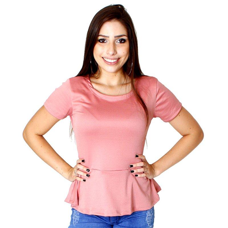 3e7618eb9 Blusa Peplum Feminina Em Crepe - Compre Agora - Feira da Madrugada SP