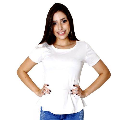 cd6150f8f8c Blusa Peplum Feminina Em Crepe - Compre Agora - Feira da Madrugada SP