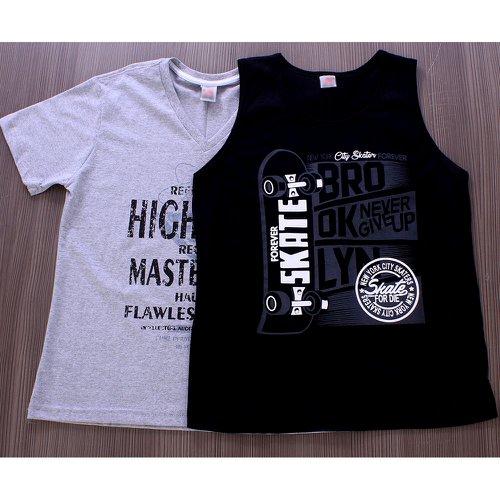 Kit Masculino Com 1 Camiseta + 1 Regata Estampada - Compre Agora ... 130928f1063