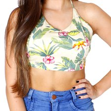 Cropped Feminino Floral