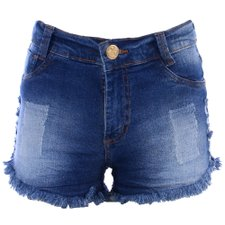 Short Jeans Destroyed Feminino