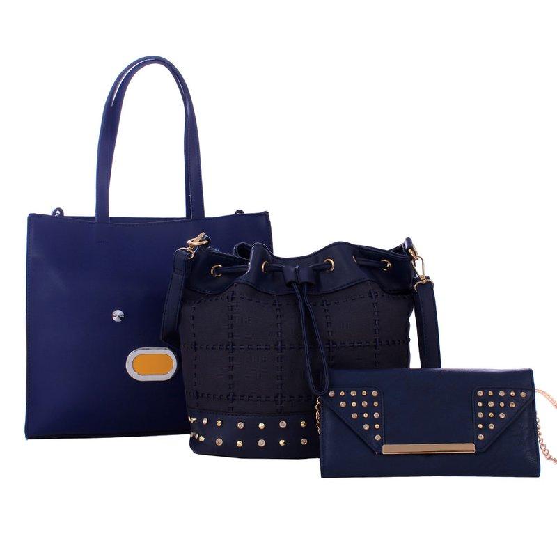 9a636f37c Kit Feminino 3 Em 1 Bolsa Baú + Bolsa Saco + Carteira - Compre Agora - Feira  da Madrugada SP