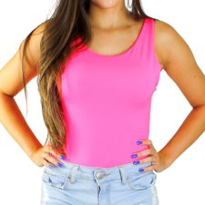 Body Neon Feminino Com Costas Decotada