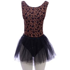 Kit Carnaval Estampa Animal Print Body + Saia Tutu