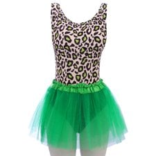 Kit Carnaval Body Estampa Animal Print + Saia Tutu Lisa