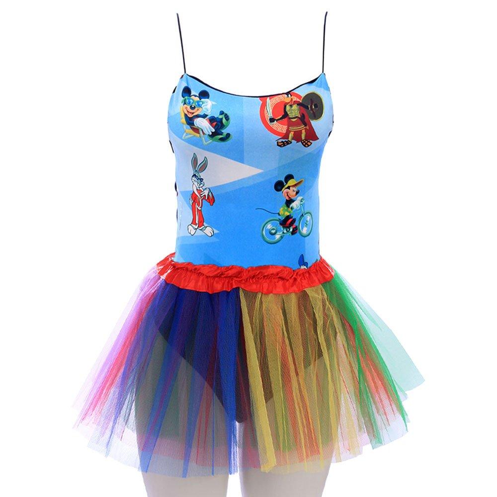 c0ecf6a9b56 Kit Feminino Carnaval Body Estampado + Saia Tutu Glitter - Compre Agora -  Feira da Madrugada SP