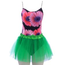 Kit Feminino Carnaval Body Estampado + Saia Tutu Lisa
