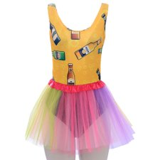 Kit Body Regata Carnaval Estampada + Saia Tutu Colorida