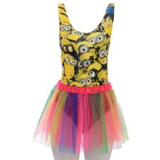 Kit Feminino Body Carnaval Estampada + Saia Tutu Colorida