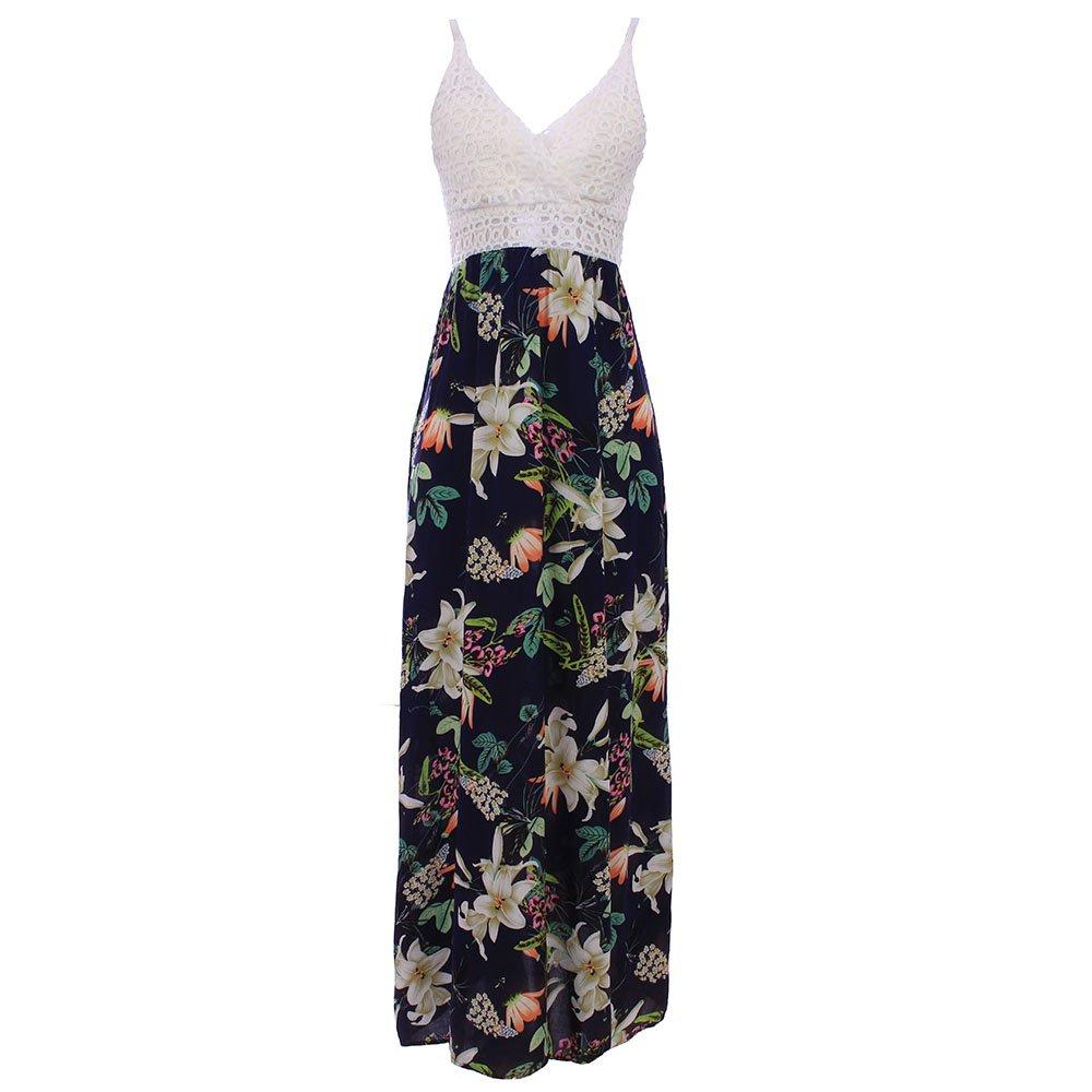 8b195fc6f2 Vestido Longo Estampa Floral Com Ombro Vazado - Compre Agora - Feira da  Madrugada SP