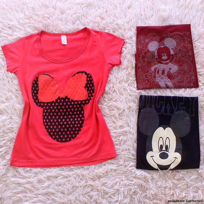 Kit Feminino 3 Camisetas Estampas De Personagens Variadas - Compre Agora -  Feira da Madrugada SP cbcc23f1bb7