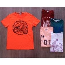 Camiseta Masculina Manga Curta Estampas E Cores Variadas bcac5c81c5dc6