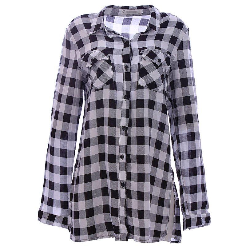 bc2146a5b Camisa Feminina Xadrez Vichy Manga Longa - Compre Agora - Feira da  Madrugada SP