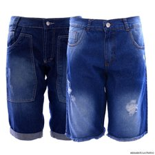 Kit Masculino Com 2 Bermudas Jeans Destroyed