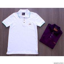 7ee3f8da5634d comprar. Camisa Polo Estampa Estonada Masculina