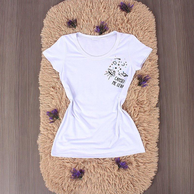 fc9cac5f6ed9 Camiseta Feminina Com Frases Variadas - Compre Agora - Feira da ...