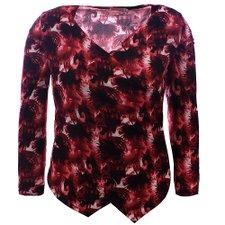 e2b7cea7a Suéter Plus Size Estampado Feminino Com Decote Transpassado